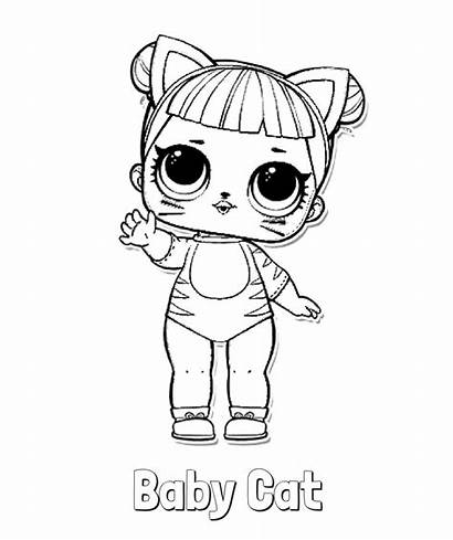 Lol Coloring Pages Doll Dolls Surprise Series