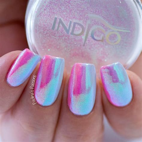 unicorn nails vertical gel polish gradient mermaid