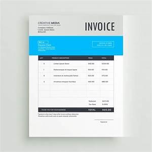 Vektoren Rechnung : blaue rechnung vorlage design in einfachen stil download ~ Themetempest.com Abrechnung