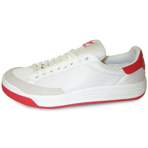 Adidas Rod Laver Super Tennis Shoe Whitered  World Footbag