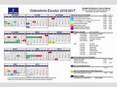 Calendario Escolar 20162017 PVIPS Santa Bárbara