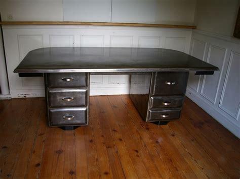 chaises bureau bureau industriel métallique en acier brossé jpg tables