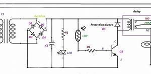simple electrical and electronics engineering projects With ldr sensor circuit
