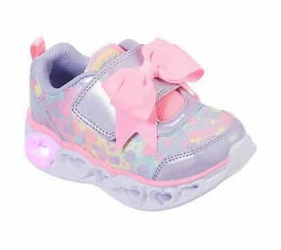 Heart Skechers Lights Sparkle Spark Shoes Pink