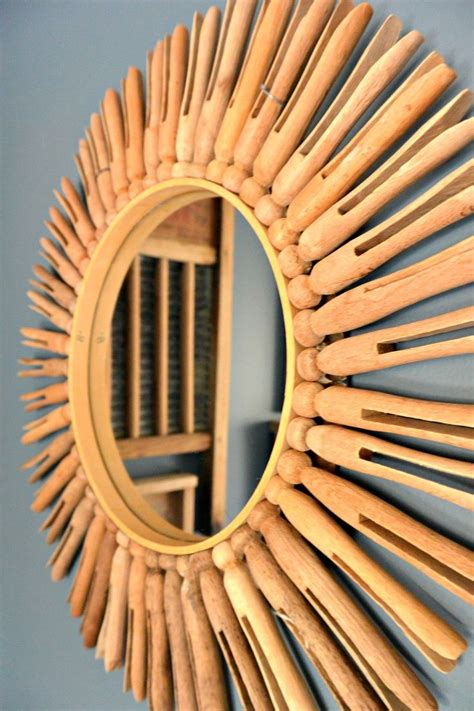 vintage clothespin mirror diy tutorial vintage laundry