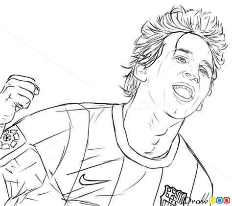 Kleurplaat Messi Ronaldo by 2015 Lionel Messi Coloring Pages