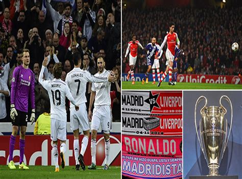 Real Madrid vs Liverpool and Arsenal vs Anderlecht: Full ...