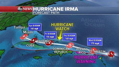 hurricane irma strengthens  category    storm