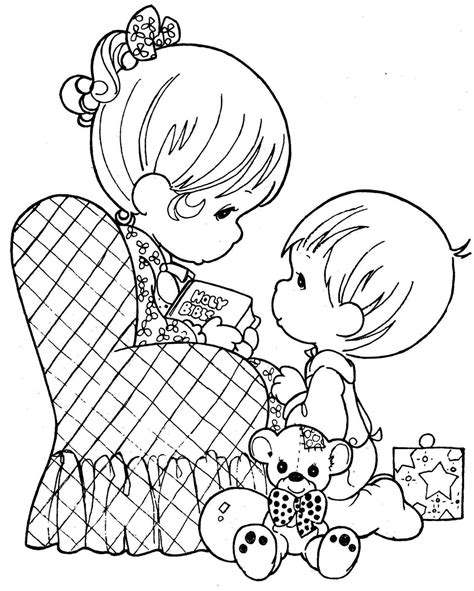 I Love Grandma Coloring Book Precious Moments Mother Pages