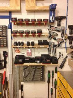 battery charger rack garage storage garage tools