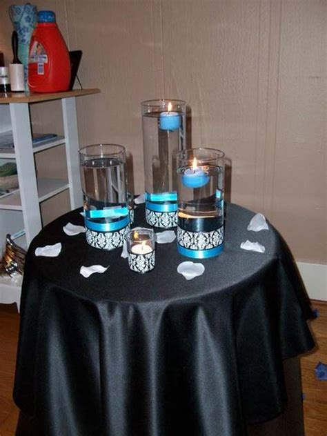 decorations tips wedding black blue diy reception white black and white wedding centerpieces