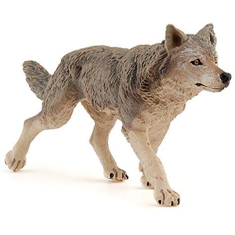 papo wild animal kingdom figure grey wolf buy