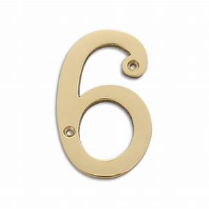 polished brass 4 inch house numbers letters rch supply co With 4 inch letters and numbers