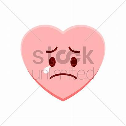 Feeling Heart Sad Character Vector Stockunlimited Graphic