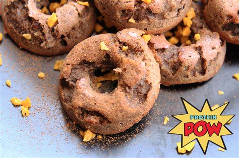Apple, Flax, and Cinnamon Protein Donuts - Protein Pow