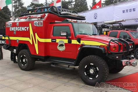 transformer hummer inspires chinese emergency vehicle