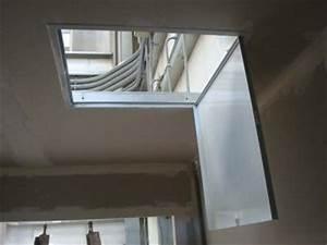 Trappe De Plafond : faux plafonds en ba13 av c trape de visite faux plafonds ~ Premium-room.com Idées de Décoration