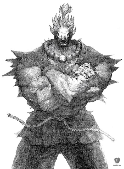 Artwork Akuma Capcom