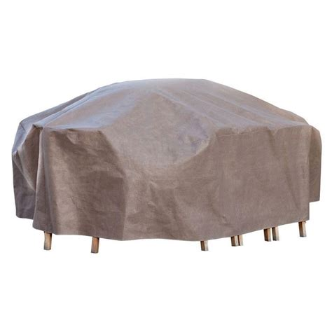 duck covers ultimate 127 in l rectangle oval patio table