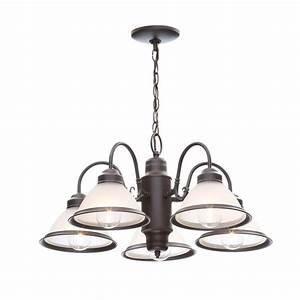 Hampton bay halophane light oil rubbed bronze chandelier
