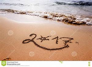 Happy New Year 2017 On The Beach Stock Image - Image: 78643113