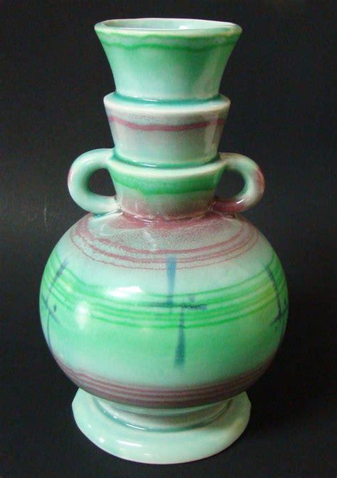 Vintage Deco Vases by Vintage Deco Pottery Vase Unknown Maker Sale Sold On