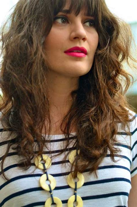 30 best curly hair with bangs hairstyles haircuts 2016