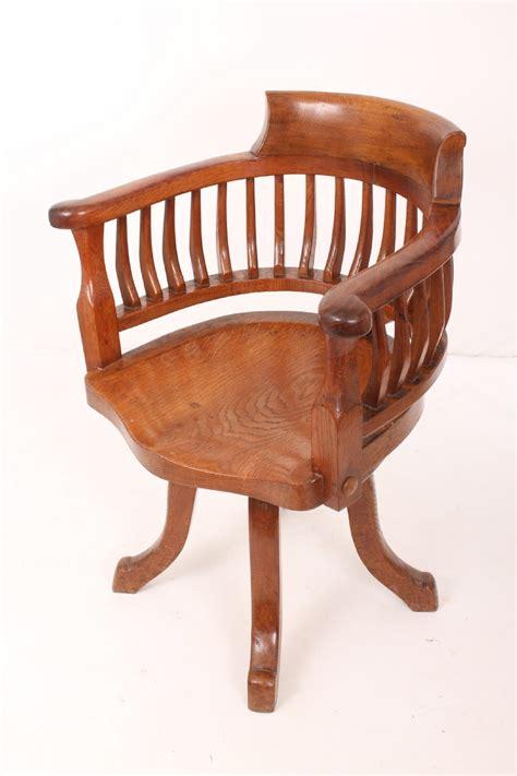 oak swivel desk chair