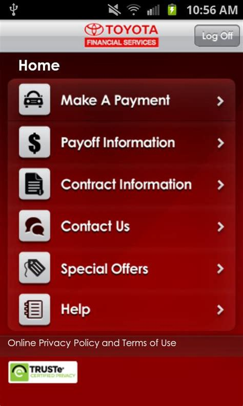 Toyota Financial Payoff by Mytfs Toyota Financial Android Apps On Play