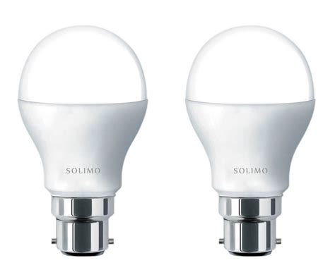buy solimo base b22 9 watt led bulb pack of 2