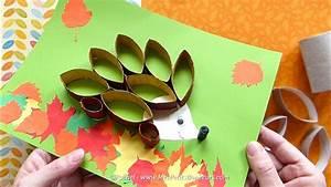 Bricolage Facile En Papier : bricolage r cup 39 h risson d 39 automne en rouleaux de ~ Mglfilm.com Idées de Décoration