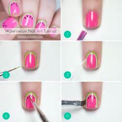 Nail art steps with pictures : Watermelon nail art tutorial the nailasaurus uk