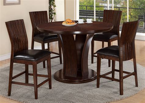 Bar Height Dining Room Table Sets Compass Furniture Espresso Counter Height