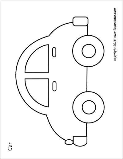 cars  vehicles  printable templates coloring