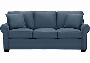cindy crawford home bellingham indigo sofa sofas blue With blue pull out sofa bed