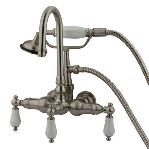 kingston brass kitchen faucet reviews aqua porcelain lever 3 handle claw tub faucet
