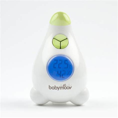 thermomètre hygromètre chambre bébé babymoov thermomètre hygromètre blanc et vert achat