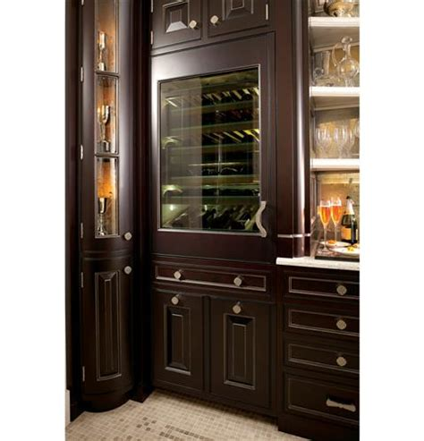ge monogram custom panel ready ziwgnzii  fully integrated wine refrigerator