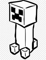 Creeper Minecraft Coloring Drawing Clip Cartoon Miner Square sketch template