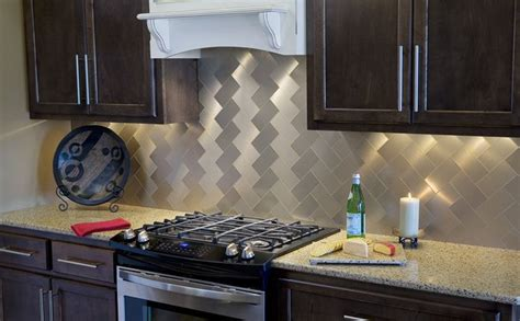 metal tiles for kitchen backsplash the best backsplash materials for kitchen or bathroom 9155