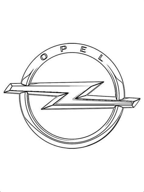 Kleurplaat Auto Opel by Kleurplaat Opel Logo Gratis Kleurplaten