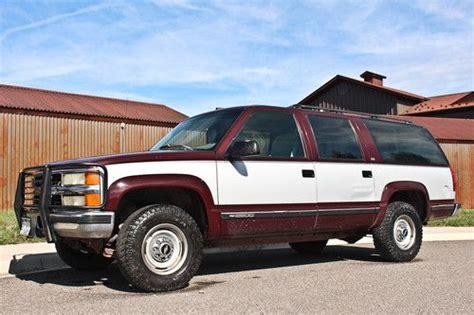 how petrol cars work 1994 chevrolet suburban 1500 windshield wipe control find used rare 1994 chevrolet diesel suburban silverado 6 5l low reserve in ridgway colorado