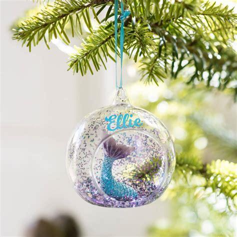 mermaid glitter christmas tree decoration