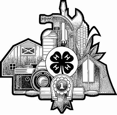 4h Clipart Clover County Youth Club Extension
