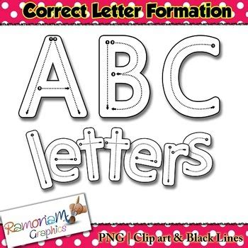 alphabet tracing letters correct letter formation clip