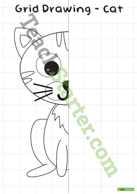 grid symmetry drawing cat  images symmetry