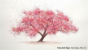 How to Paint a Cherry Tree in Watercolor - Splatter ...