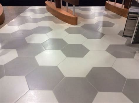 "Daltile Bee Hive series 24""x20"" large hexagon tile"