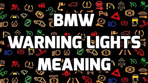 Meaning Of Bmw by Bmw Dash Light Meanings Decoratingspecial