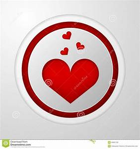 Icon For Blog. Red Heart Stock Vector - Image: 43691703